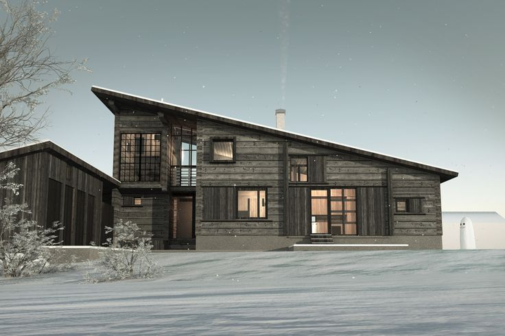 Hirsipinta jää näkyviin. Ulkosivua ryhdittävät myös ikkunaluukut, jotka voidaan vetää kokonaan ikkunoiden eteen.
