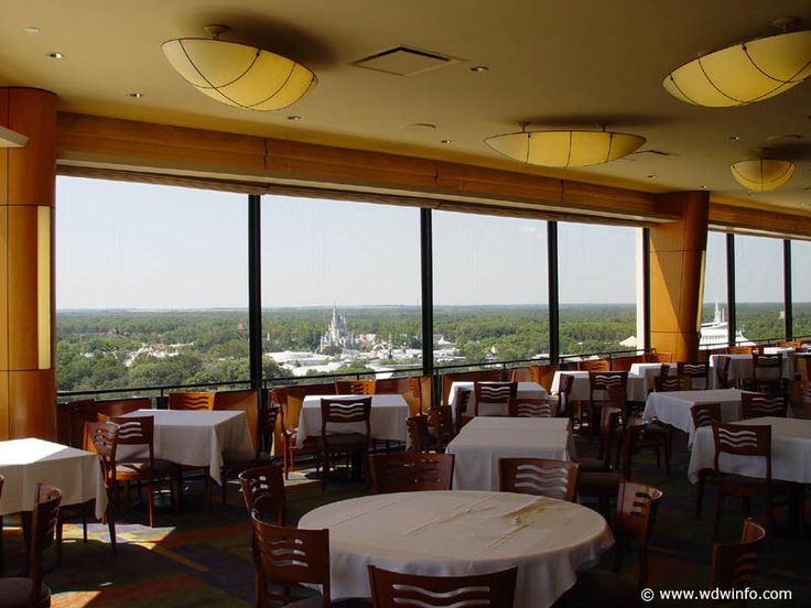 California Grill Disney World. Great food with amazing views of Magic Kingdom. Reserve early to ensure seating for firework shows.
