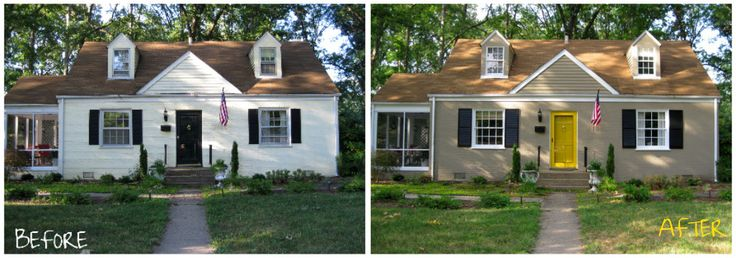 Before And After Painting Brick House Paint Exterior