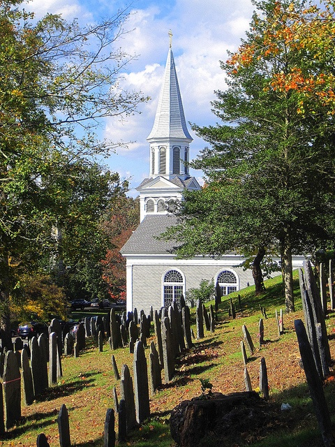 Concord, Massachusetts - old graveyard next to St. Bernard's