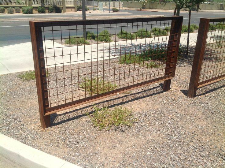 steel trellis fence