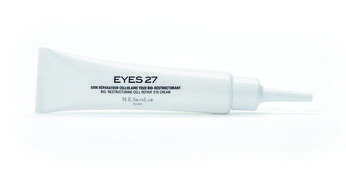 EYES27 BIO-RESTRUCTURING CELL REPAIR EYE CREAM  Correcting – Firming – Lifting Eye Cream  Reparative and regenerating : restructures skin tissue, anti-wrinkle. Anti-free radical protector : stops the natural deterioration of DNA and skin aging. Bag corrector : reduces the volume of bags. Dark circle corrector : diminishes the greenish coloring of dark circles. Lifting effect : improves skin's radiance and tone. 99% natural ingredients.