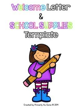 Welcome Letter & School Supply List Template