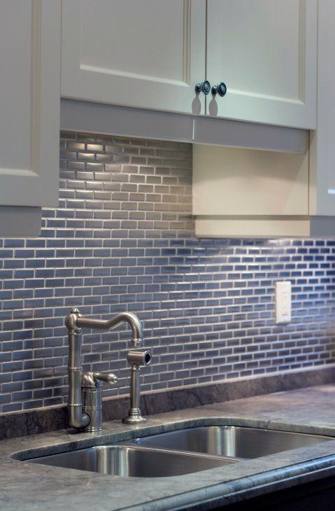 Stainless Steel Mosaic 1x3 In 2018 Renov Const Pinterest Kitchen Backsplash And