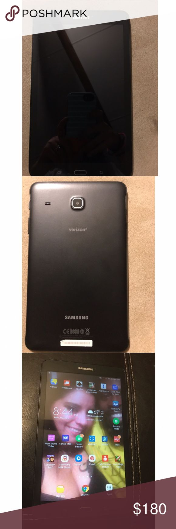 Samsung galaxy tablet Samsung Galaxy Tab E on Verizon network, perfect condition, we just never use it. Accessories