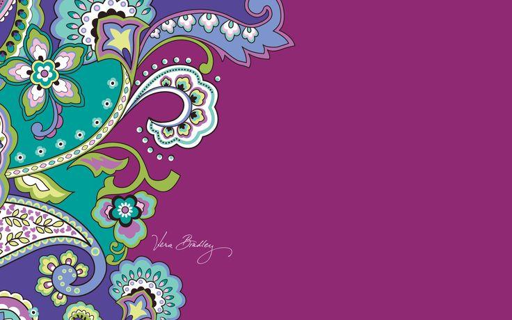 Dress your tech: Very Berry Paisley Desktop Wallpaper | Vera Bradley