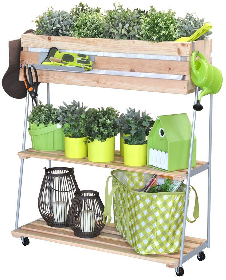 """Das """"GreenRACK"""" von Wagner bietet Gestaltungsfreiheit für kreative Pflanzenfreunde: Es ist mobiler Mini-Garten, rollbares Kräuterbeet, modernes Regal mit Pflanz- oder Dekobox, begrünter Sichtschutz und vieles mehr – es ist all das, was der Anwender daraus macht. http://www.wagner-webshop.com/de/pflanzenroller/greenbox/greenbox-923.html"""