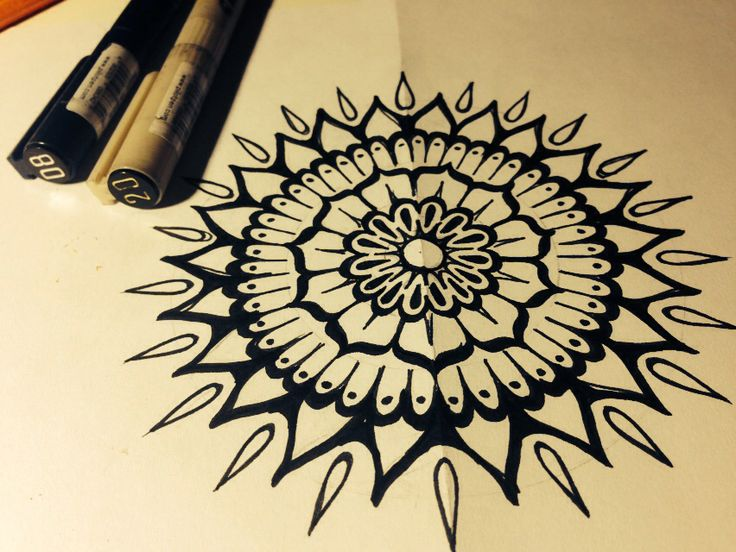 Sun and flower scetch