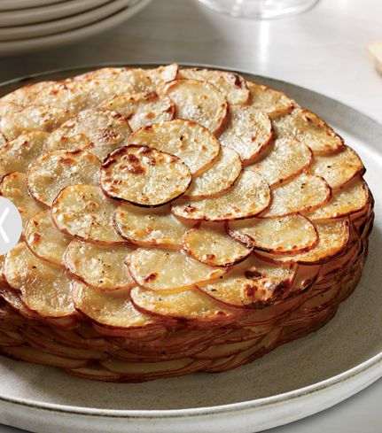 This looks delish, but I feel that I'd need to sneak some cheese in there!  Gruyere perhaps??  ~~Healthy Potato Gratin with Herbs! #Thanksgiving #recipe #Thanksgiving #Recipe #Turkey #Holiday