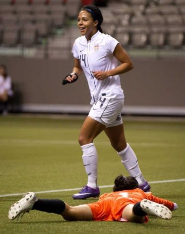 Sydney Leroux, her 2nd cap for team USA, and she scores 5 goals against Guatemala in Olympic qualifying. That's a way to start her career, can't wait to see more from her