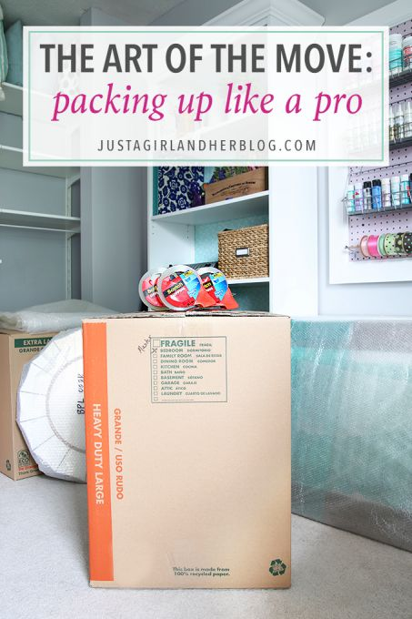 This post has so many helpful tips for making the moving process easier! She talks about the best ways to pack up boxes, store everything, and get prepared to move into the new house. Click through to the post to read more!