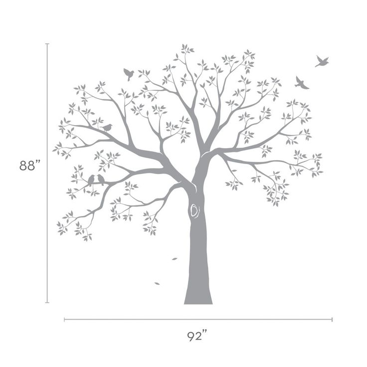 Staircase Family Tree Wall Decal   Tree Wall Decal, Organic Giant Family  Tree Wall Decal Part 91