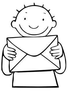 Bladwijzer/ voorblad heen- en weerschriftje voor brieven