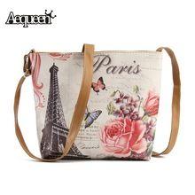 New Fashion Eiffel Tower Printed Crossbody Bags for Women Messenger Handbag Shoulder Bags  Ancient Ways Bolsa feminina Bag