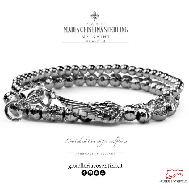 MARIA CRISTINA STERLING   Bracciale uomo SAINT  [ LIMITED EDITION ] ▪   Disponibile presso Gioielleria Cosentino, Corso Manfredi 181   Manfredonia (FG)   0884.512858  FIND MORE ► http://www.gioielleriacosentino.it/it/brands  #mariacristinasterling #bracciali #bracelet #argento #gioielli #madeintuscany #jewellery #ancora #love #italy #manfredonia