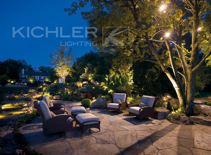 Landscape lighting · outdoor lightinglighting ideaslighting systemkichler