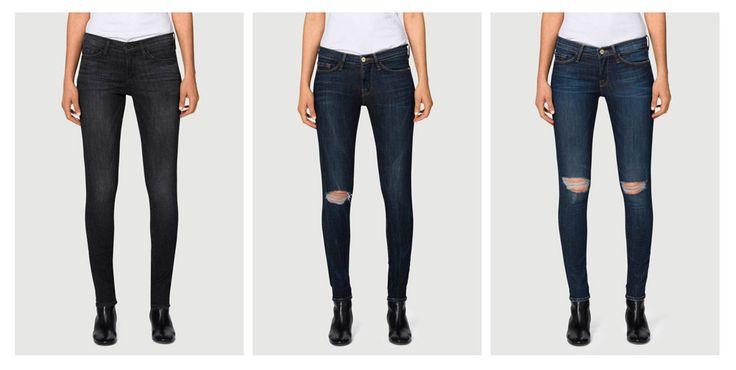 Рваные джинсы, с дырками, расположенными на уровне коленей