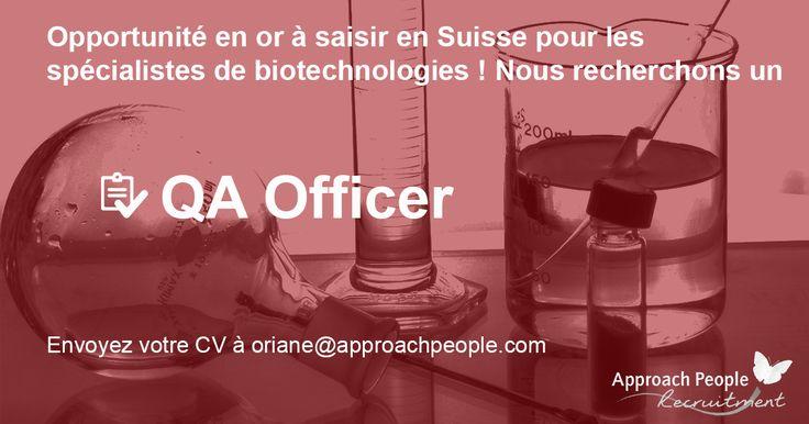 Offre d'#emploi en #Suisse, à #Bern pour les férus de #biotechnologies :  http://www.approachpeople.com/international/job-description/?id_job=14449 #jobs #emploi #VotreJob #CDI