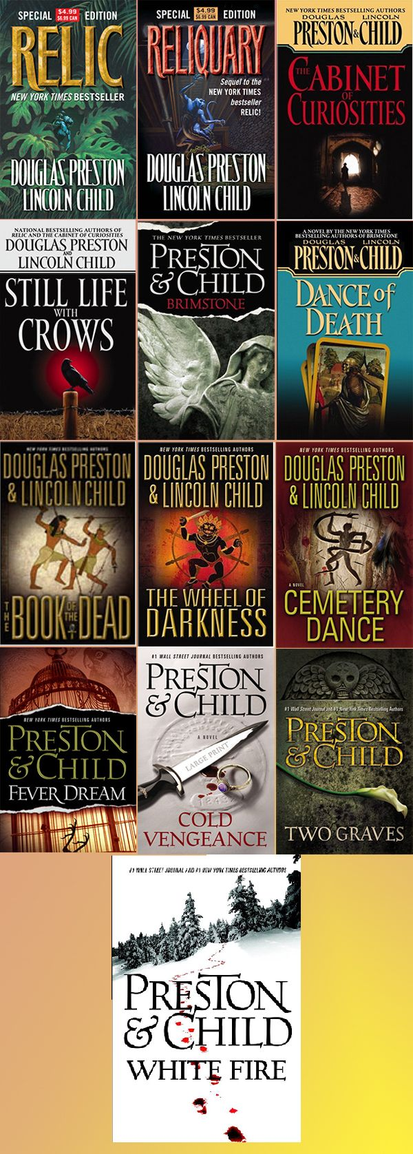Pendergast Novels In Order by Douglas Preston & Lincoln Child
