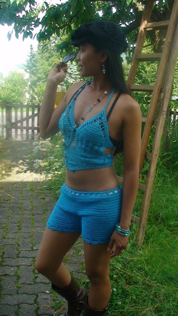 Shaped lingerie crochet top by Darmianifashion on Etsy, $29.00