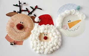 Crafts for Kids Blog » Tutorial : Paper Plate Christmas Characters: Santa, Rudolph, Snowman