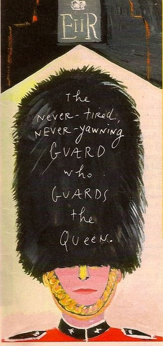The Queen's Guard. Illustration by Maira Kalman