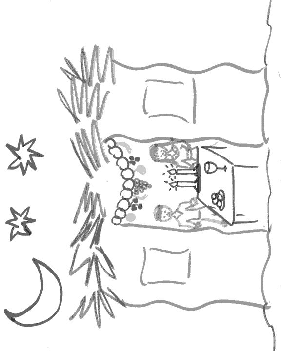 Sukkah coloring page sukkot ideas traditions for Sukkah coloring pages