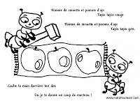 Pomme de reinette et pomme dapi |        Comptine enfantine à mimer illustration  vidéo