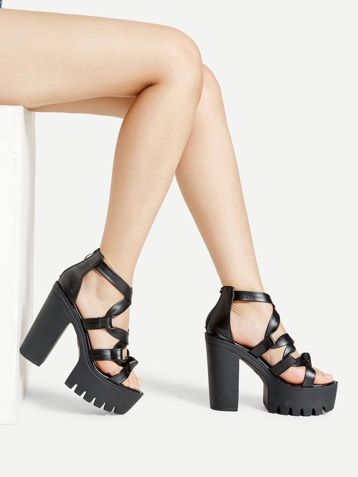 Shop Wrap Strap PU Platform Heeled Sandals online. SheIn offers Wrap Strap PU Platform Heeled Sandals & more to fit your fashionable needs.