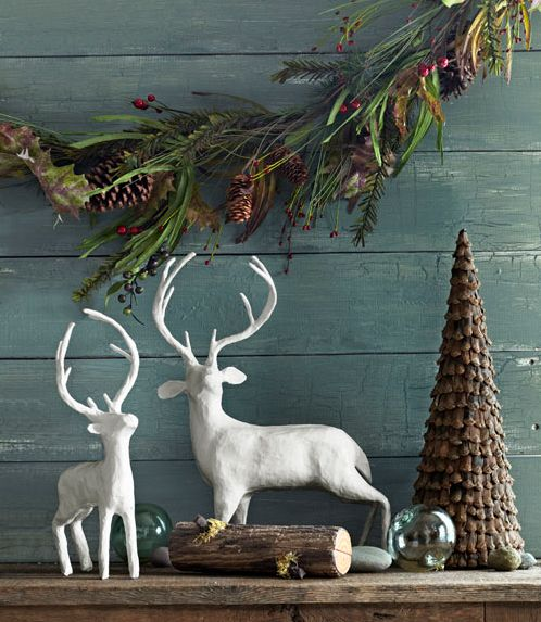 RUSTIC CHRISTMAS DECORATING IMAGES | Rustic Christmas decoration ideas - Decoration -