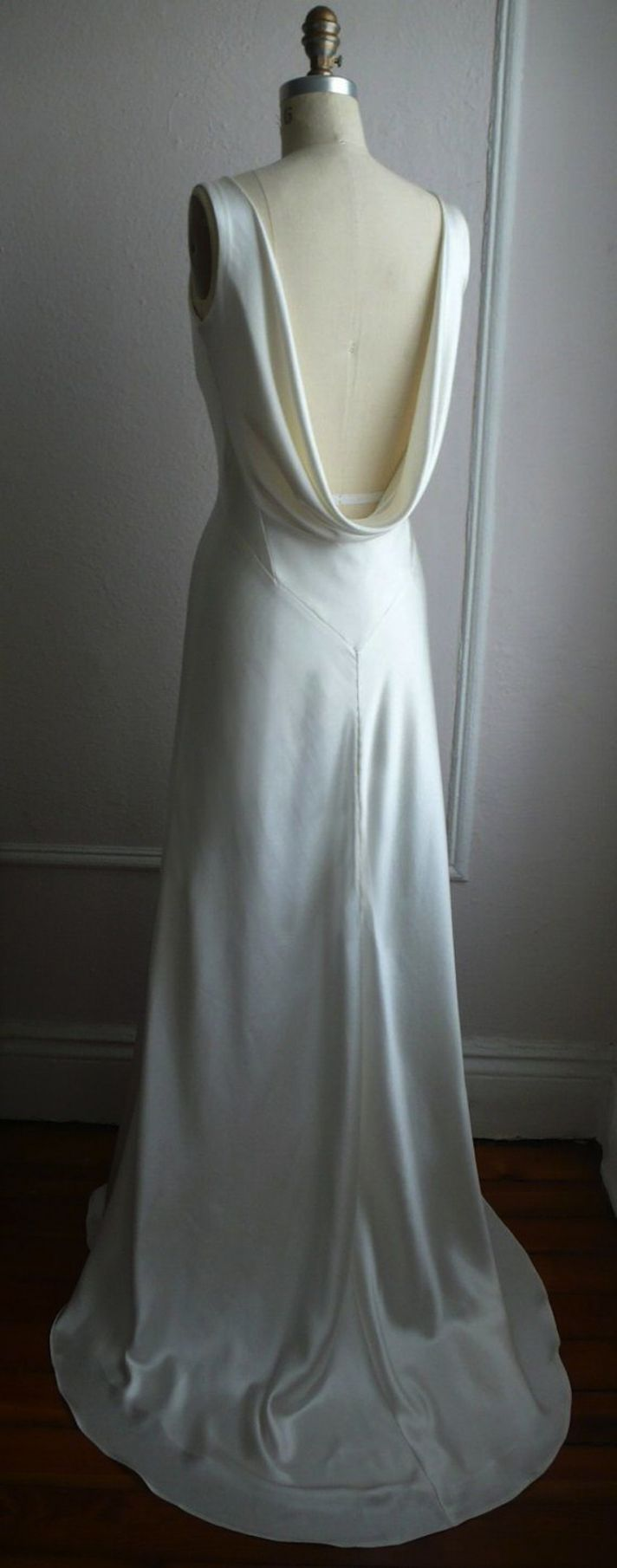Simple White Satin Dress