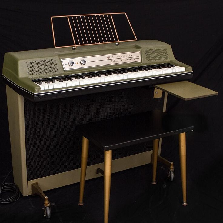Check out this #avocado #green #wurlitzer we got in for restoration awhile ago. Avocado colored pianos are rare and don't come by often. Contact Vintage Vibe for all your electric piano needs!  #vintagevibe #electricpiano #wurly #wurlitzer #piano #pianogram #instapiano #pianosofig #vintage #keyboards