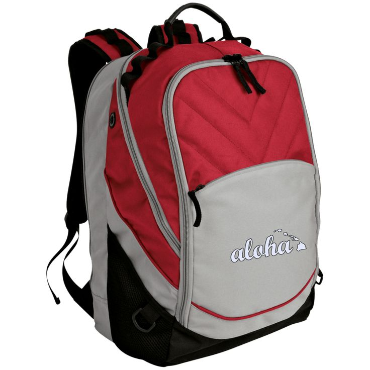 Aloha Embroidered Laptop Computer Backpack
