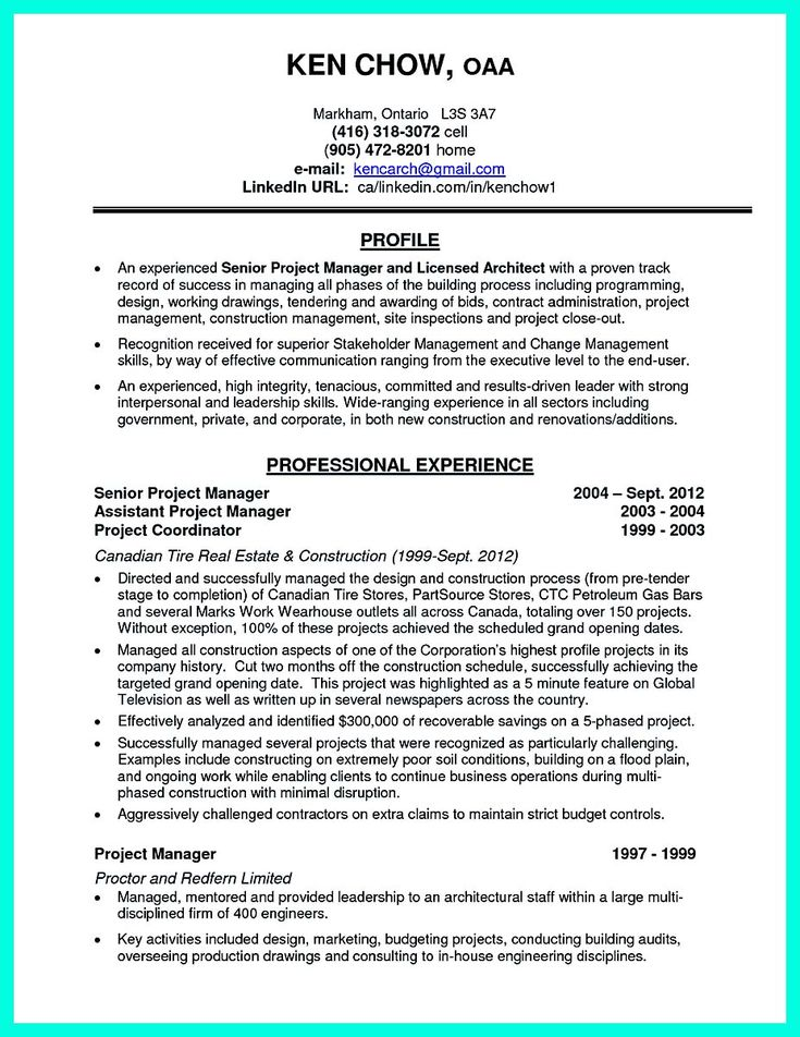 project manager resume cover letter architectural manager sample