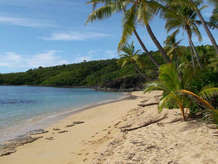 Barefoot Lodge beach. Home base for Vinaka Fiji volunteers.