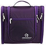 Premium Toiletry Bag By Freegrace  Large Travel Essentials Organizer  Durable Hanging Hook  For Men & Women  Perfect For Accessories Cosmetics Personal Items Shampoo Body Wash (Purple) #mensaccessoriesorganizer