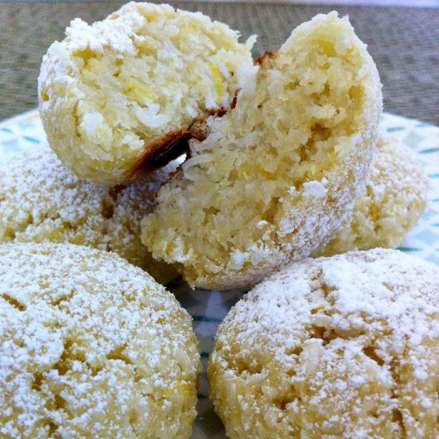 Moroccan Coconut Cookies...flavored with orange blossom water and lemon zest.