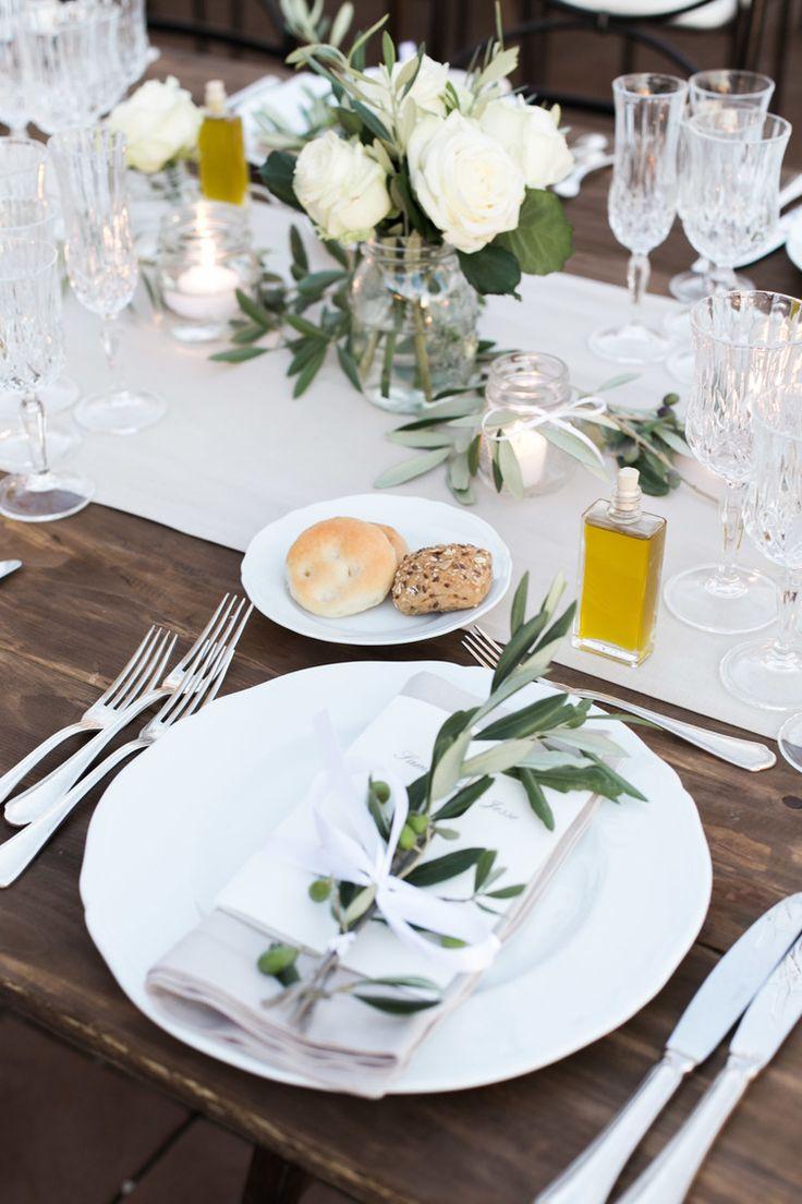 Toskanische Tischdeko
