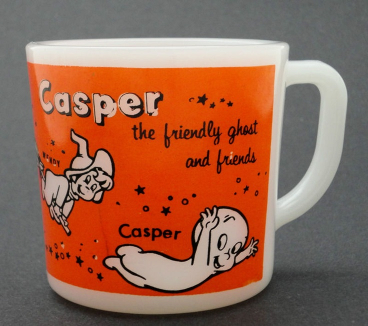 Vintage CASPER The Friendly Ghost Milk Glass Mug by Westfield USA