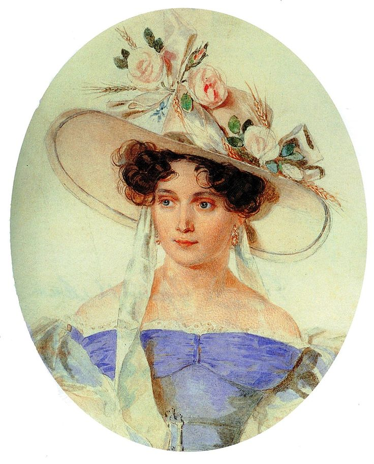 Черткова Елена Григорьевна (1800-1832), урожденная Строганова. Жена Ивана Дмитриевича Черткова (1797-1865)