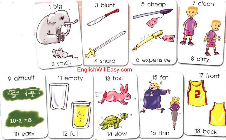 Vocabulary list by Opposites (or Antonyms) | Vocabulary | Picture Dictionary for Kids