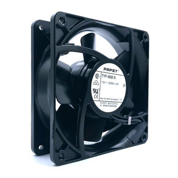 115V fan typ 4600 N For PAPST 4600N fullmetal 12038 12cm 115VAC 20W 106cfm 3100rpmHigh temperature resistance cooling fan