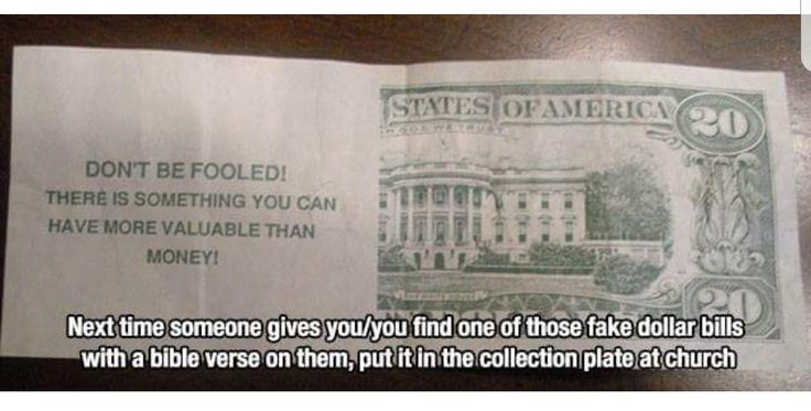 Fake dollar bill