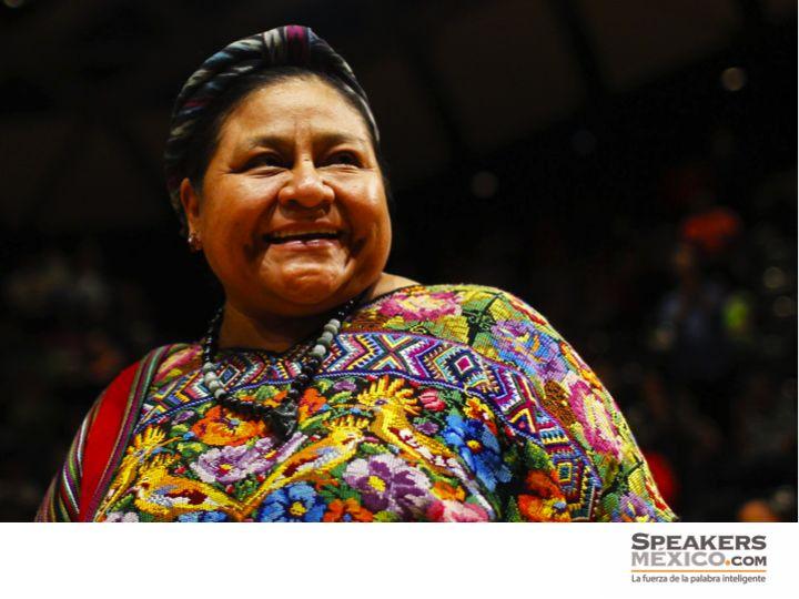 CONFERENCIAS MOTIVACIONALES. Mónica Rigoberta Menchú es una activista de los derechos humanos en Guatemala y en 1992, fue reconocida con el Premio Nobel de la Paz gracias a su lucha incansable y por actuar como mediadora en el proceso de paz entre el Gobierno y la guerrilla. Si estás interesado en contratar sus conferencias, en Speakers México te invitamos a visitar nuestro sitio en internet www.speakersmexico.com. #conferenciasmotivacionalesenméxico