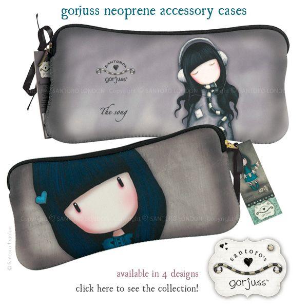Gorjuss Accessory Cases (Think Makeup / pens/Pencils etc) New from Santoro!