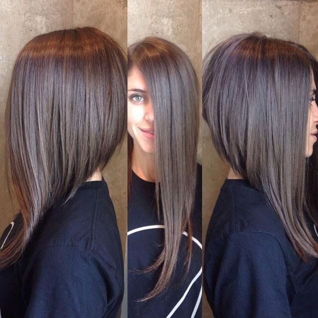 Sensational 1000 Ideas About Long Angled Haircut On Pinterest Wavy Bob Short Hairstyles Gunalazisus