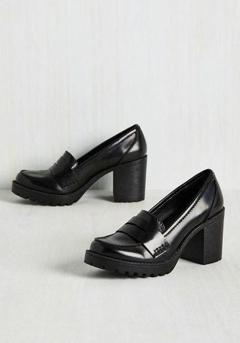 3e137e982a5e Loafer and Done With Heel - Black
