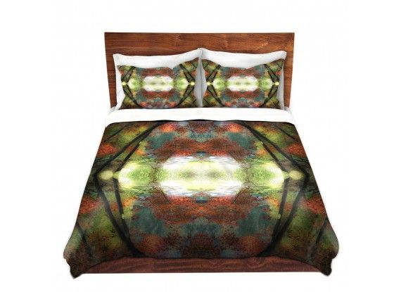Dianoche designs brings hooshang khorasanis captivating autumn view to your home via unique decorative artistic and designer duvet covers and shams