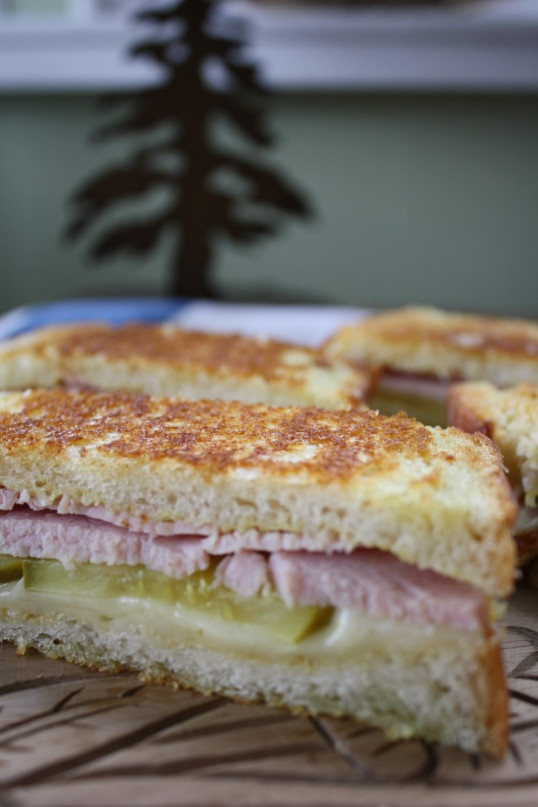 Grilled Cubano Sandwich with Slow-cooked Peameal Bacon