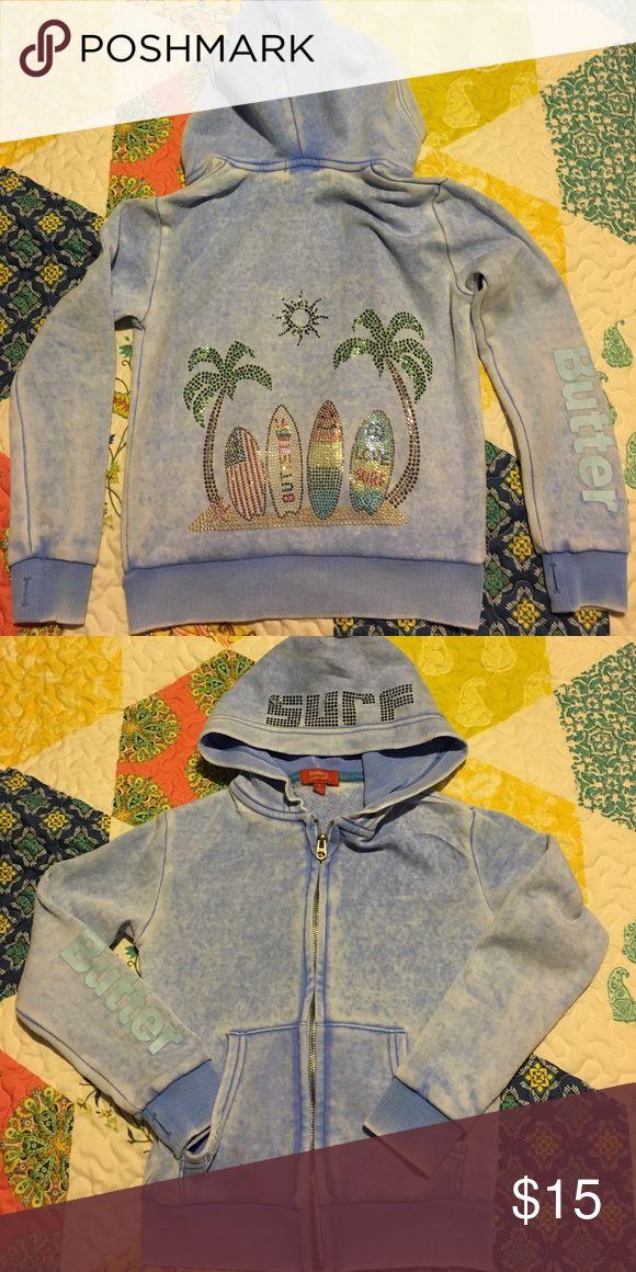 Girls Butter zip up surf hoodie Girls Butter zip up surf hoodie Butter Shirts & Tops Sweatshirts & Hoodies
